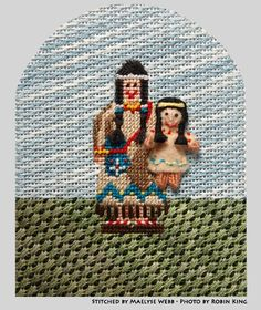 needlepoint indian for Thanksgiving