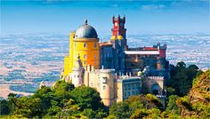 Discover Sintra in Portugal, one of the best destinations in Europe for a romantic city break. Best hotels in Sintra, Best tours and activities in Sintra, Best things to do in Sintra. Sintra Portugal, Hotel Portugal, Visit Portugal, Portugal Travel, Pena Palace, Day Trips From Lisbon, Famous Castles, Voyage Europe, European Destination
