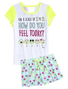 Justice is your one-stop-shop for on-trend styles in tween girls clothing & accessories. Shop our Emoji Pajama Set - MOOS. Cute Pjs, Cute Pajamas, Girls Pajamas, Outfits For Teens, Cool Outfits, Summer Outfits, Emoji Pyjamas, Justice Pajamas, Justice Clothing