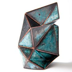 Bongsang Cho - Stellar Brooch #1   Copper, Enamel, Laser welding & Enameling