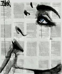 """More black and white illustration on newspaper Saatchi Art Artist Loui Jover; Drawing, """"never know (SOLD)"""" Newspaper Art, Drawn Art, Raoul Dufy, Ouvrages D'art, Gustav Klimt, Love Art, Oeuvre D'art, Painting & Drawing, Amazing Art"""