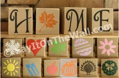 We sell vinyl wall words for your home or any other type of decoration. Choose from our list of sayings, colors, fonts, or design your own just how you want it. 2x4 Crafts, Wood Block Crafts, Tile Crafts, Wooden Crafts, Crafts To Make, Arts And Crafts, Wood Blocks, Glass Blocks, Fall Craft Fairs