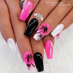 Nails chrome 36 Swimming Pool Summer Nail Art Ideas That Will Cheer You Up Tropic Palma Nail Art ★ The newest summer nail art trends are featured in our photo gallery. You should definitely check it out in case you are out of ideas. Summer Acrylic Nails, Best Acrylic Nails, Acrylic Nail Art, Summer Nails, Summer Nail Art, Cute Acrylic Nail Designs, Nail Art Designs, Beach Nail Designs, Cute Summer Nail Designs