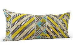 New work from Material Recovery on One Kings Lane....I've finally using some of the best Kantha pieces I've collected over the years and making some of my favorite pillows ever! Citron Geometric Long  Kantha Lumbar on OneKingsLane.com