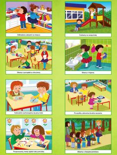 Plakat - KODEKS PRZEDSZKOLAKA 2 - Scenariusze zajęć i artykuły - Miesięcznik - BLIŻEJ PRZEDSZKOLA Work Activities, Toddler Activities, Story Sequencing, Classroom Rules, Picture Story, Teaching Art, Childcare, Art Education, Kindergarten