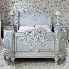 pretty french bed with appliques