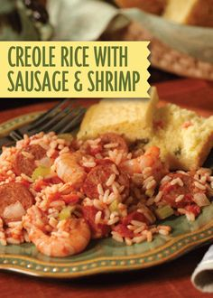 Creole Rice with Sausage and Shrimp – a sizzling seafood dish that ...