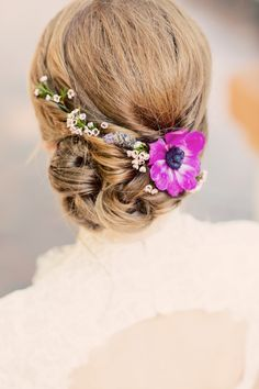 Flower- Accented Updo | Justin Lee Photography | Theknot.com