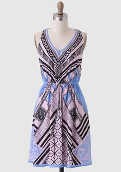 Drama Club Printed Dress