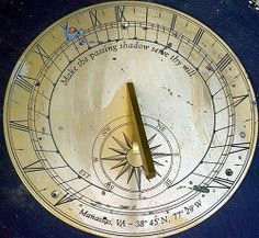custom made sundial with latitude longitude and your time motto, from Merlin Designs Sundials.