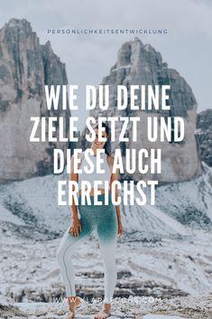 Ziele  setzen. Ziele erreichen. Good Motivation, Fitness Motivation, Coaching, Stress, German Quotes, Mental Training, Sport Fitness, Girl Power, Life Hacks