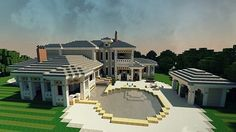 Plantation Mansion minecraft house build ideas 3
