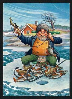 (75) Одноклассники Pretty Fish, Beautiful Fish, Deep Sea Fishing, Gone Fishing, Cartoon Fish, Black Love Art, Caricature Drawing, Fishing Humor, Vintage Fishing