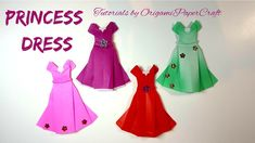 How to make a PRINCESS DRESS Origami Tutorial By OrigamiPaperCraft