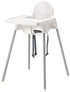 Ikea Antilop Highchair with Tray,safety Belt, White, Silver Color and Antilop Highchair White by IKEA Ikea Outlet, Ikea Antilop, Stool, Chair, Vanity Bench, Silver Color, Flooring, Furniture, Safety