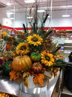 Large Fall silk and dried flowers arrangement Fall Floral Arrangements, Dried Flower Arrangements, Fall Flowers, Dried Flowers, Cemetery Flowers, Grave Flowers, Autumn Decorating, Fall Home Decor, Fall Wreaths