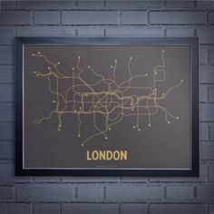 Beautiful minimalist City Transit Map Posters.   http://www.etsy.com/shop/lineposters