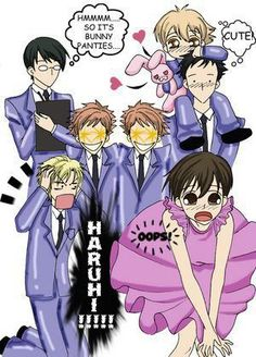 Ouran highschool host club haruhi and the twins i love haruhi x twins