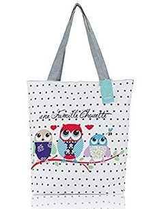 Humok Fashion Casual Women's Cute Owl Pattern Canvas Handbags Tote Bag for Women Girls Canvas Handbags, Tote Handbags, Canvas Tote Bags, Leather Handbags, Handbag Patterns, Owl Patterns, Crossbody Bags For Travel, Michael Kors Crossbody Bag, Bags For Teens