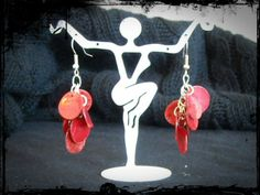 Red Shell Earrings by BeadedByGray on Etsy, $5.00