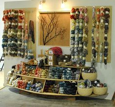 I'm dying to visit this yarn shop in Oakland, A Verb for Keeping Warm.  I think I could live there.