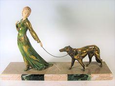 French Art Deco Sculpture by Roggia/ Menneville c1925