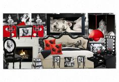 Marilyn Monroe, Bedroom Olioboard by Sammiibubbles Marilyn Monroe Room, Bedroom Decor, Bedroom Ideas, Glam Bedroom, Dreams Beds, Old Room, Home Goods Decor, House Beds, Creative Decor