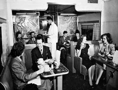 California Zephyr Train Buffet Lounge - 1950s