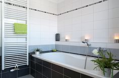 Work with a range of neat and graceful white gloss and matte wall tiles to simplify your interior design. Bathroom Trends, Wall Tiles, Luxury Vinyl Flooring, Corner Bathtub, Small Bathroom, Amazing Bathrooms, Bathroom Design, Bathtub, Tile Bathroom