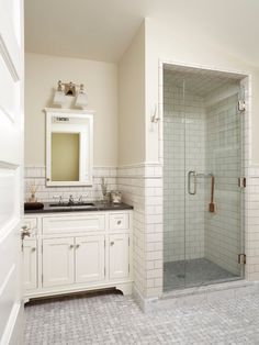 Spaces French Tile Treatment In Steam Shower Design, Pictures, Remodel, Decor and Ideas - page 12