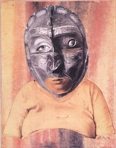 Hannah Höch, Mother, (watercolor and photo collage on grey paper, mm). Dada Collage, Collage Artists, Collages, Man Ray, Piet Mondrian, Photomontage, Hannah Hoch Collage, John Heartfield, Hannah Höch