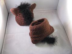 Crochet Korner Crochet Horse Beanie Hat and by CrochetKorner, $20.00