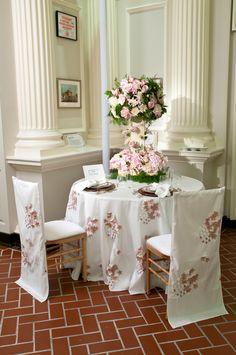 Designer: Erin Patrick Event  Linens: Alice Du Pont Taffeta #wedding #ideas
