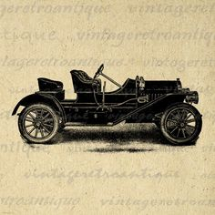 Printable Car Antique Automobile Digital Download Graphic Illustration Image Vintage Clip Art. High quality, high resolution digital graphic clip art. This vintage printable digital image download is great for fabric transfers, printing, t-shirts, tea towels, and much more. This digital image is high quality, high resolution at 8½ x 11 inches. Transparent background version included with every graphic.