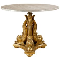 Carved and Gilt Centre, or Pedestal, Table.
