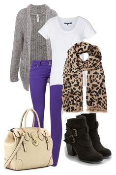 I NEED this in my life! The scarf and the boots and OMG purple skinny jeans!!