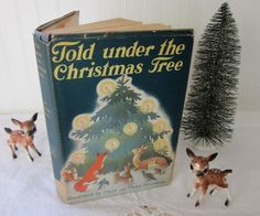 Told Under the Christmas Tree, stories and poems for children, An Umbrella Book, Maud & Miska Petersham illustrations, vintage  HC DJ