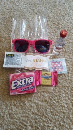 Bachelorette survival kit