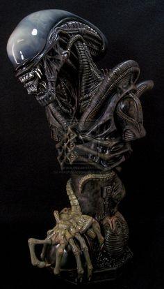 xeno morph Alien bust by ~mangrasshopper on deviantART