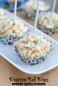 Popcorn Ball Pops (and I'm happy to make them with popcorn made the old-fashioned way)