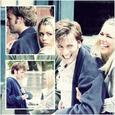 David Tennant and Billie PIper... Behind Scenes Christmas Invasion... Doctor Who. This just makes me happy.