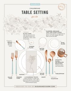 How to Set a Table: A Guide With Absolutely Everything to Know for setting a modern dinner table. party table settings How to Set a Table: A Guide With Absolutely Everything to Know Table Setting Etiquette, Dining Etiquette, Table Settings, Setting Table, Correct Table Setting, Comment Dresser Une Table, Dinner Party Table, Dinner Parties, Picture Table