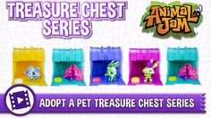 There's a brand new Animal Jam toy available exclusively at Walmart! Pick up your very own ADOPT A PET TREASURE CHEST! Have fun and PLAY WILD!