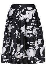 #MYTRENDTWOWARDROBE Graffiti Print High Waist White Skirt | TrendTwo graffiti is hot right now!