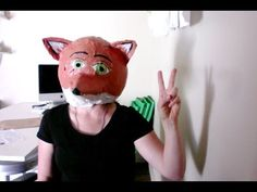 How to make a paper mache fox mask/head - YouTube