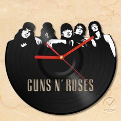 Guns N' Roses Vinyl Wall Clock