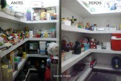 Organização de despensa...Spaço & Ordem em ação