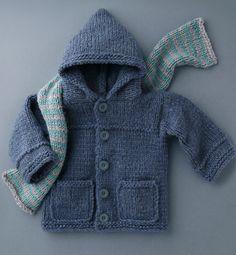 Modèle paletot jean's enfant - Modèles Enfant - Phildar - No pattern - just idea.