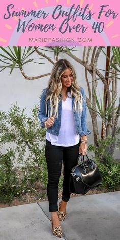 Summer / Spring Casual Outfits For 50 Year Old Woman 2020 Classy Summer Outfits, Summer Outfits Women Over 40, Womens Fashion Casual Summer, Cute Casual Outfits, Fall Outfits, Fashion Spring, 40 Year Old Womens Fashion, Casual Dresses, Clothes For Women Over 50
