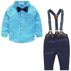 Baby Shirt and Pants w/Suspenders
